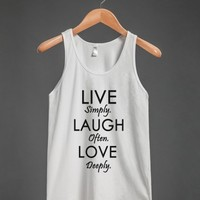live,laugh,love tank top-jh - glamfoxx.com - Skreened T-shirts, Organic Shirts, Hoodies, Kids Tees, Baby One-Pieces and Tote Bags