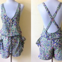 Spring / Summer Sale: floral jumper shorts or romper (Size 5; small to medium)