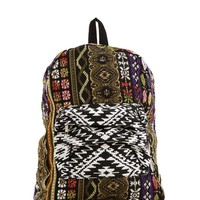 Black Take Me Away Boho Backpack