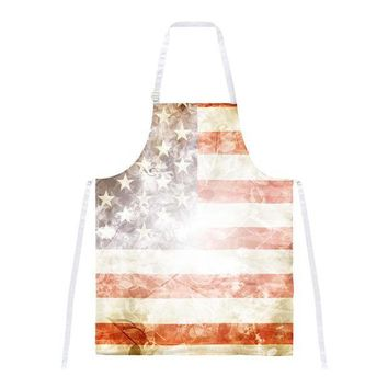 PEAPGQ9 4th of July American Flag Star Spangled Banner All Over Apron