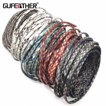 GUFEATHER P111/5MM PU Leather/jewelry accessories/accessories parts/jewelry findings/Jewelry made/diy/leather cord/ 500CM/bag