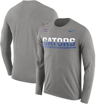 DCCKG8Q NCAA Florida Gators Men's Nike Staff Sideline Legend Performance Long Sleeve Shirt