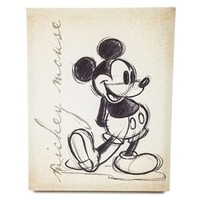 Tan Vintage Mickey Mouse Canvas Wall Art | Shop Hobby Lobby