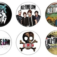 "Set of 6 New All Time Low 1.25"" Pinback Button Badge Pin"