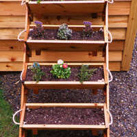 "24"" 4 large planters raised bed vegetable garden for herb, tomato, flower, and strawberry gardening planter kit - free shipping"