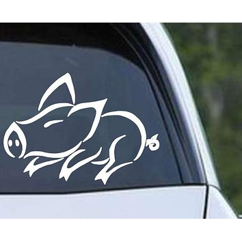 Pig (ver e) Die Cut Vinyl Decal Sticker