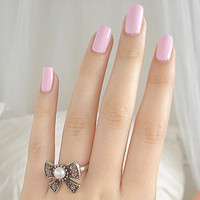 amazing, bow, nails, pink - image #638387 on Favim.com