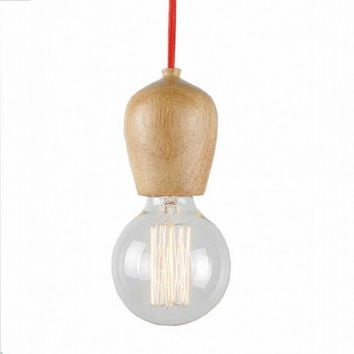 1 light bar bedroom kitchen wood pendant lamp light