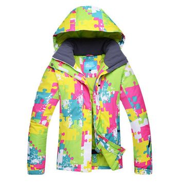 Colourful Women Warm Ski Jacket Outdoor  Climbing Snow Hunting Skiing Coat  Waterproof Jacket