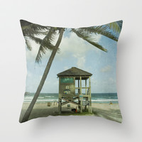 Beach Throw Pillow by Mary Kilbreath