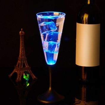 Water Inductive LED Cup Glowing Champagne Beer glass