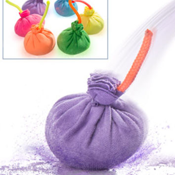 Chalk Bombs: Balls that create colored chalk puffs with every throw.