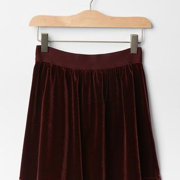 Gap Girls Velvet Circle Skirt
