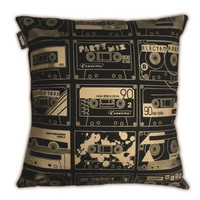 Mini Moderns — C-60 Cushion - Black and Gold