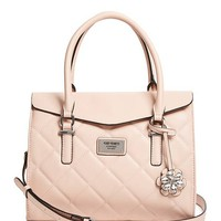 Nella Quilted Satchel at Guess