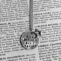 "Hamilton Look Around Look Around 1"" pendent necklace"