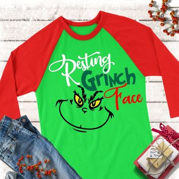 Resting Grinch Face,Grinch Face svg,Grinch Face Shirts,The Grinch svg,Grinch Face,Christmas Grinch,Cricut Designs,Silhouette Designs