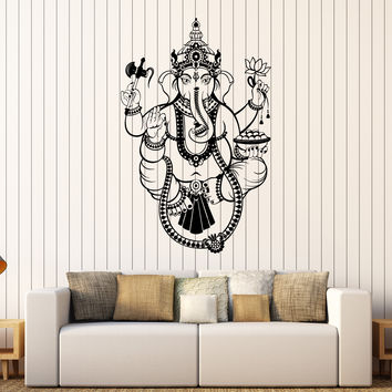 Vinyl Wall Decal India Ganesha Hinduism God Stickers Mural Unique Gift (437ig)