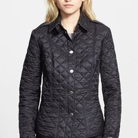 Women's Burberry Brit 'Kencott' Patch Pocket Quilted Coat