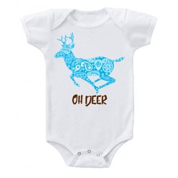 Oh Deer I'm Here Funny Baby Bodysuit Outfit