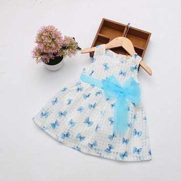2016 Hot Sale 0-2 Years Summer Cotton Baby Dress Princess Dress Puff Sleeveless Cute Fashionable Baby Infant Dress Free Shipping