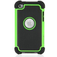 i-Blason Armadillo Series Two Layer Defender Silicone Case with Anti-Slip Hard Shell Outter Case for iTouch iPod Touch 4 4G - Green