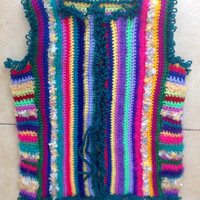 Crochet Striped Cardigan