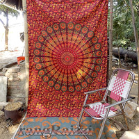 twin brown mandala hippie tapestries hippie wall hanging cotton bedspread bohemian bedding throw ethnic boho wall decorative indian art