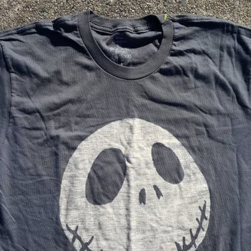 Tim Burton Nightmare Before Christmas Tee Shirt  sz Large Jack Skellington Halloween Dark Fantasy Pumpkin King