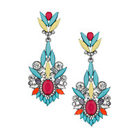 PREMIUM BRIGHT MIXED STONE DROP EARRINGS
