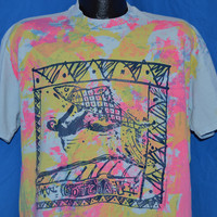 90s Gotcha Surf Surfing Blue Pink Splatter Paint t-shirt Extra Large