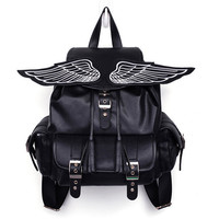 90s Angel wing backpack black punk 3 pocket