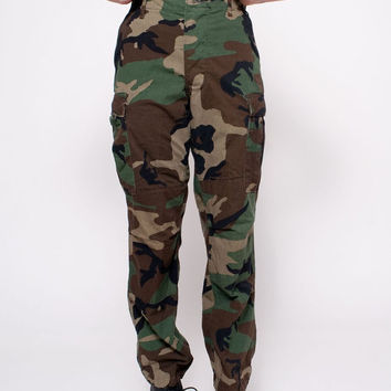 Vintage Army Camouflage Pants