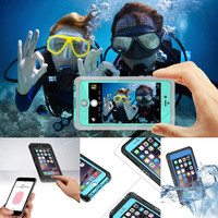 Professional Waterproof Hard PC+TPU Full Body Case For Iphone 6 6S 4.7/ Iphone 6 Plus 5.5 Touch ID Fingerprint Water proof Cover