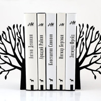 Bookends - Spring - laser cut for precision these metal bookends will hold your favorite books