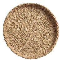 Round straw tray - Natural - Home All | H&M GB