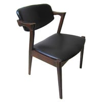 Shifa Solid Wood Dining Chair, Black