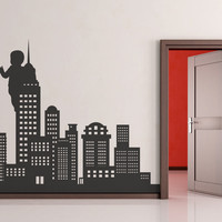 Vinyl Wall Decal Sticker Baby in the City #OS_MB291