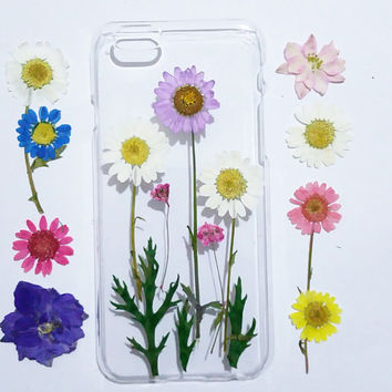 Galaxy note 4 Case, Samsung Galaxy note 5 case, note 3 Cases, flower note 5 case clear, Galaxy s6 case, pressed flower samsung galaxy case