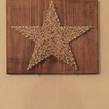 Primitive Star. String and Nail Art.