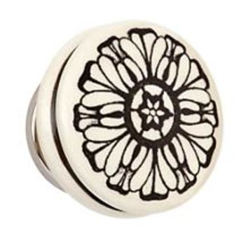 Handpicked Knobs (Grey Flower) in Nightstands | The Land of Nod