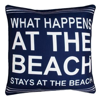 Thro By Marlo Lorenz ''What Happens At The Beach'' Throw Pillow