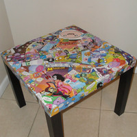 Adventure Time with Finn and Jake Collage Table FREE SHIPPING USA