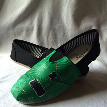 Circuit Board Geeky Custom Hand Painted Techie Toms Geek Nerd Geekery Shoes