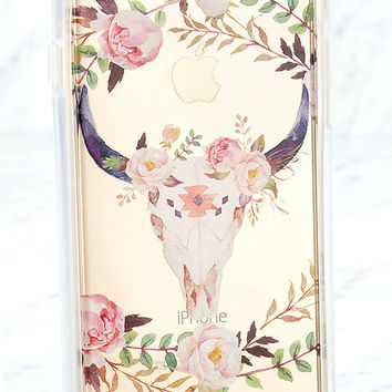 Casetify Floral Bull Skull Pink iPhone 6 and 6s Case