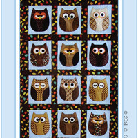 Quilt Pattern, Baby Quilt Pattern, Owl Quilt, Look Whos Sleeping in my Bed