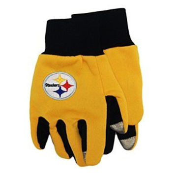 NFL Pittsburgh Steelers Texting Gloves, Black