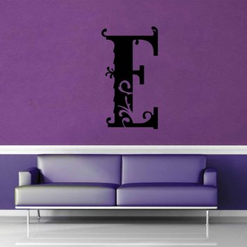 Floral Monogram - E - Wall Decal$8.95