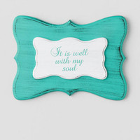 Well With My Soul Wood Wall Decor