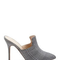 Glen Plaid Mules